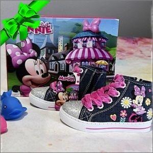 DISNEY Minnie Mouse Glitter Sneakers #f8o53f07a15